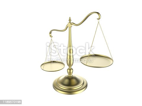 istock 3d illustration of balance scale tipping to one side isolated on a white background 1189570198