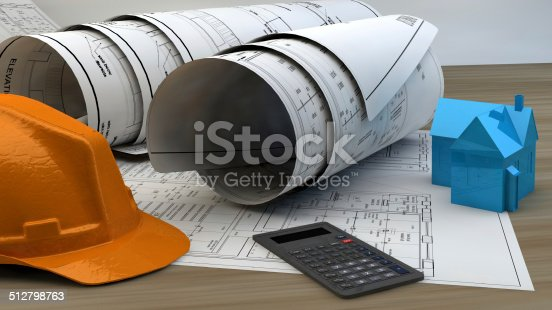 536971177 istock photo 3d illustration of  Blueprints 512798763