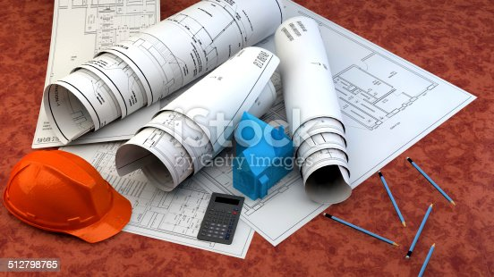 536971177 istock photo 3d illustration of  Blueprints 512798765