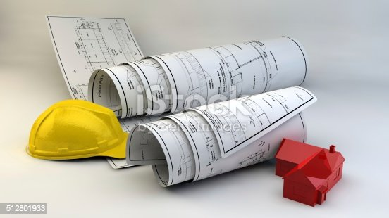 536971177 istock photo 3d illustration of  Blueprints 512801933