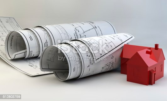536971177 istock photo 3d illustration of  Blueprints 512803759