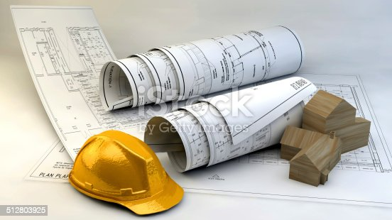 536971177 istock photo 3d illustration of  Blueprints 512803925