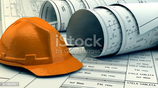 536971177 istock photo 3d illustration of  Blueprints 512803927