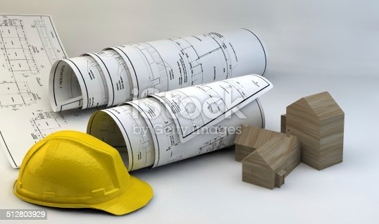 536971177 istock photo 3d illustration of  Blueprints 512803929