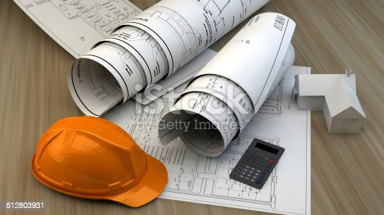 536971177 istock photo 3d illustration of  Blueprints 512803931