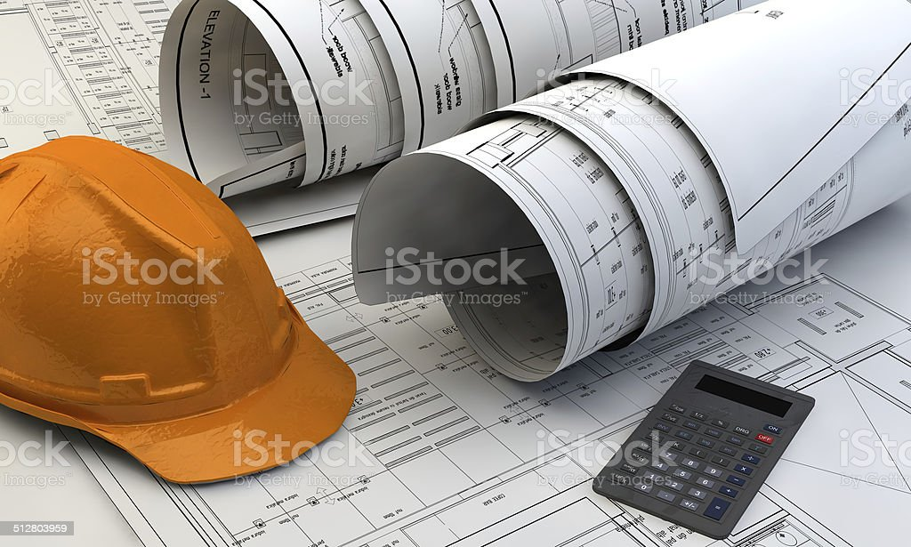 3d illustration of  Blueprints stock photo