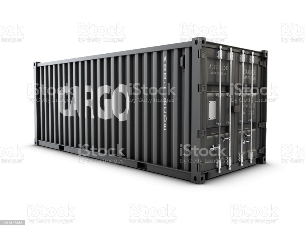 3d Illustration of cargo container or shipping container for logistics and transportation royalty-free stock photo