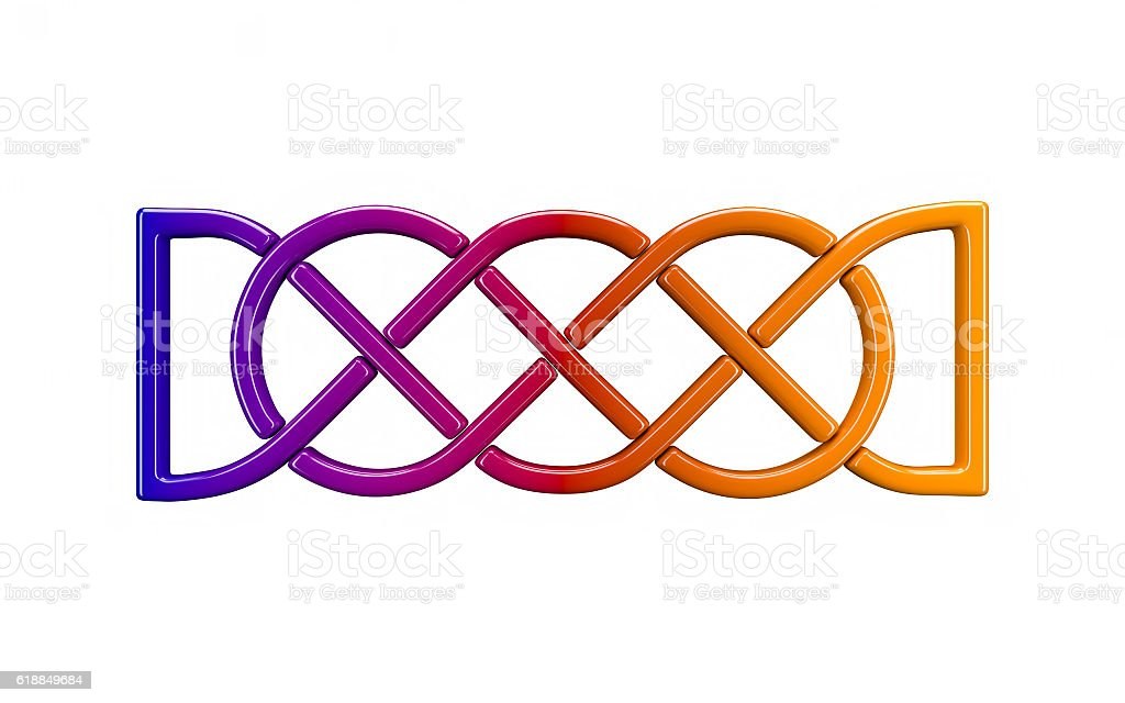 3d illustration of Celtic knot stock photo