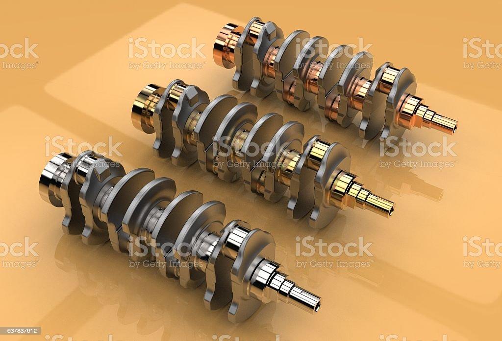 3d illustration of crankshafts – Foto