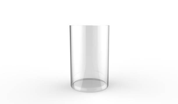 3d illustration of decorative glass vase on a white background stock photo