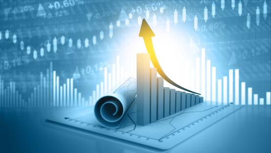 istock 3d illustration of economic growth background 1051694430