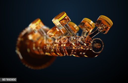 istock 3d illustration of engine. 937893930