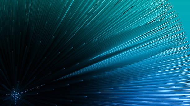 illustration 3d de la sphère bleue d'explosion - imploser photos et images de collection