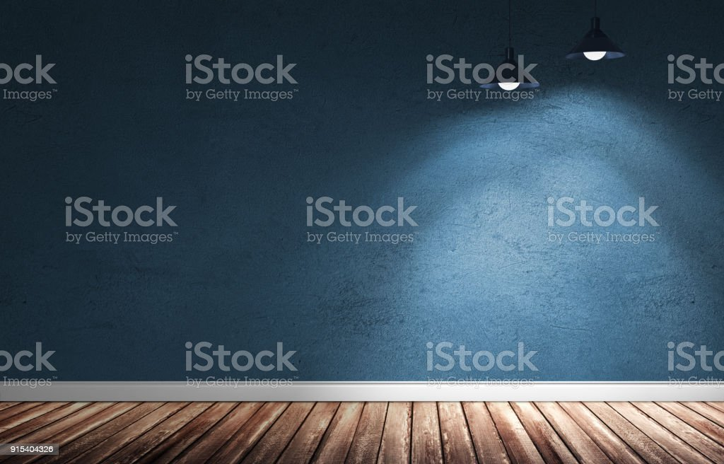 3d illustration of grungy interior. stock photo