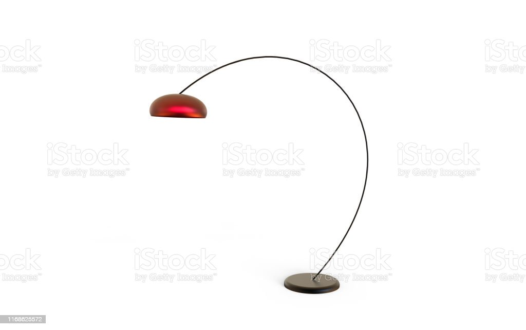Image of: 3d Illustration Of Modern Arched Floor Lamp On A White Background Stock Photo Download Image Now Istock