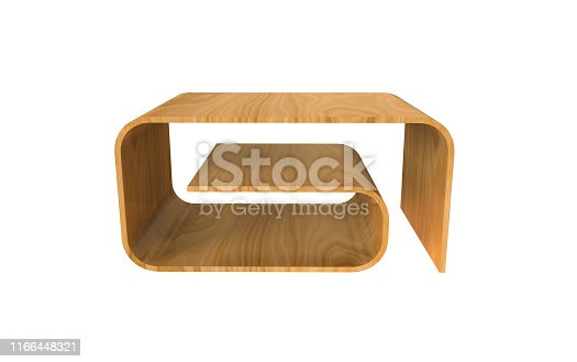 istock 3d Illustration of  modern coffee table on a white background 1166448321