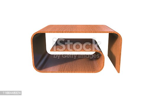 istock 3d Illustration of  modern coffee table on a white background 1166448324
