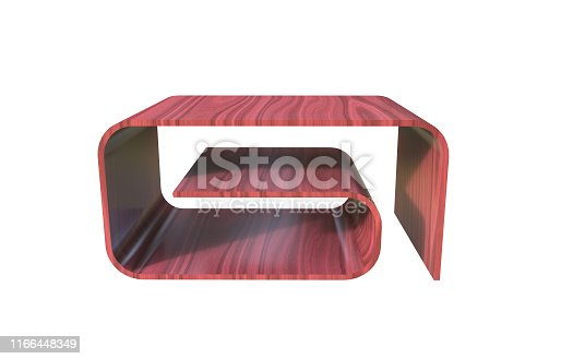 istock 3d Illustration of  modern coffee table on a white background 1166448349