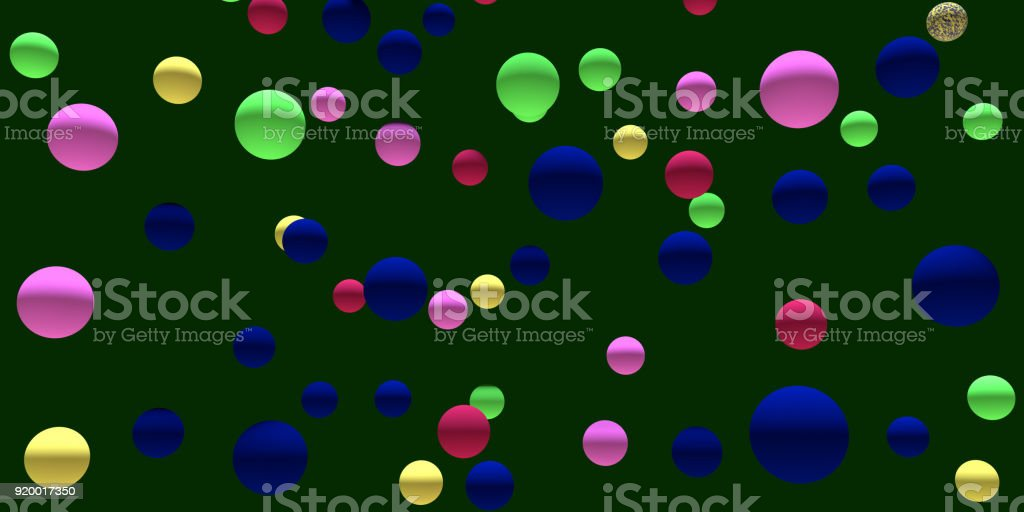 3d illustration of numerous hovering spheres stock photo