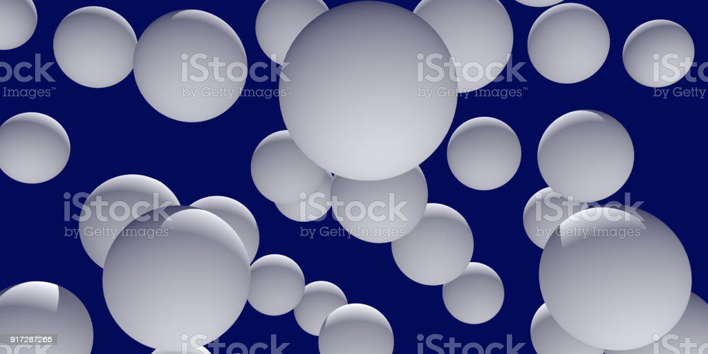 3d illustration of numerous, white spheres stock photo