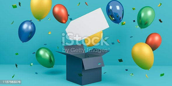 istock 3d illustration of sales tag with copy space and balloons 1137583076