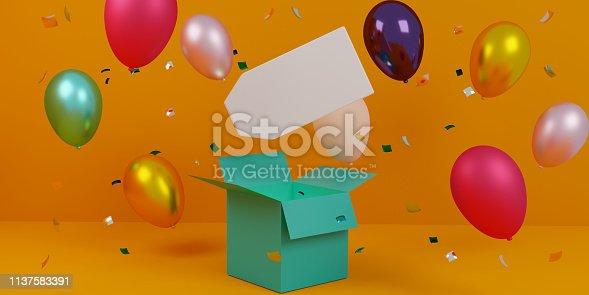 istock 3d illustration of sales tag with copy space and balloons 1137583391