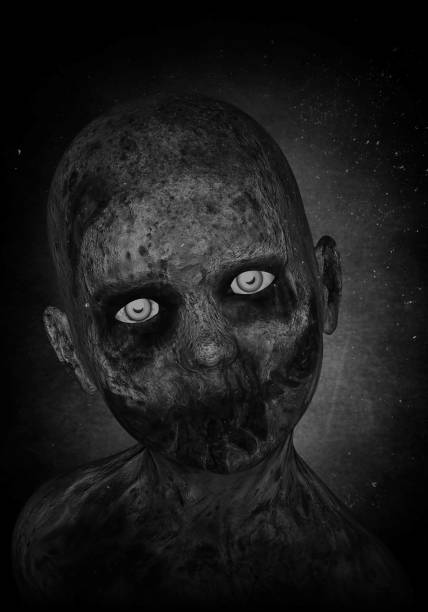 3d illustration of scary zombie boy 3d illustration of scary zombie boy mass murder stock pictures, royalty-free photos & images