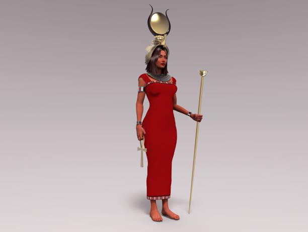 3d illustration of the Egyptian goddess Isis stock photo