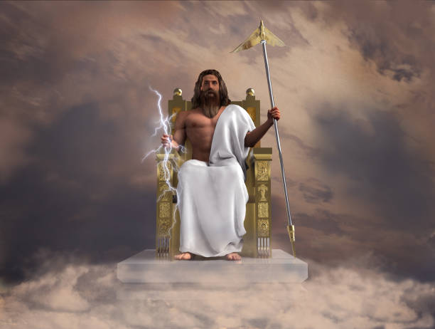 3d illustration of the god Zeus stock photo