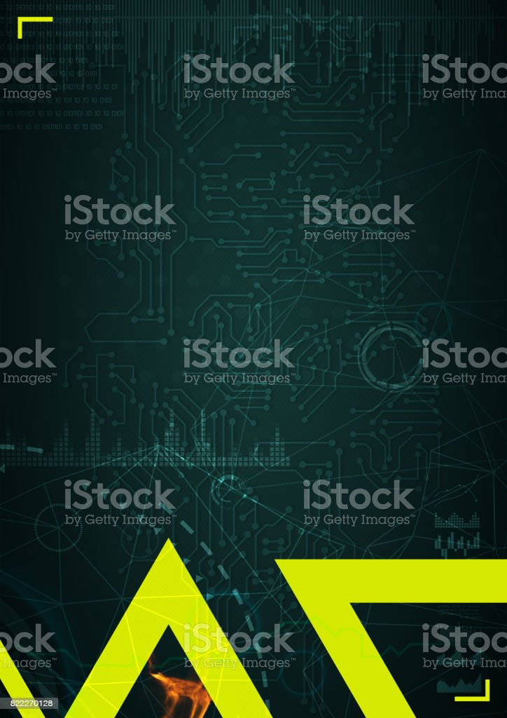 3d illustration of triangle on background stock photo