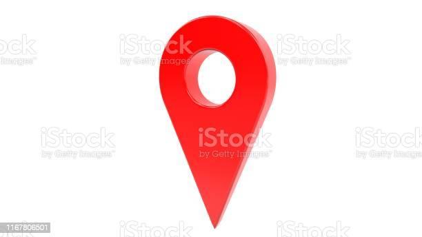 3d illustration one red map gps pointer symbol isolated on white picture id1167806501?b=1&k=6&m=1167806501&s=612x612&h=jv gs81h9qfqqr3zqqantlpwuvvpvhx 20wegqsx50o=
