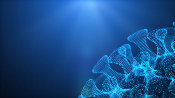 3d illustration pathogenic viruses - mutazione genetica foto e immagini stock
