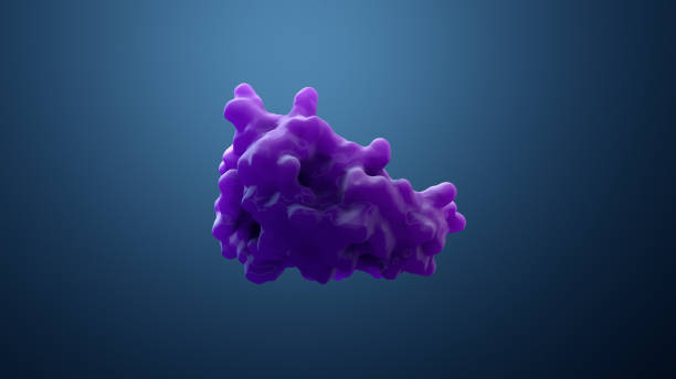 3d illustration protein or enzyme stock photo