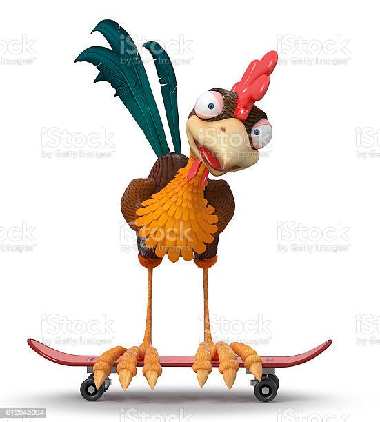 3d illustration rooster on a skateboard picture id612845034?b=1&k=6&m=612845034&s=612x612&h=nqyqz756wk45v32wre6nmd zfarpowpeb2wnpgz20ic=