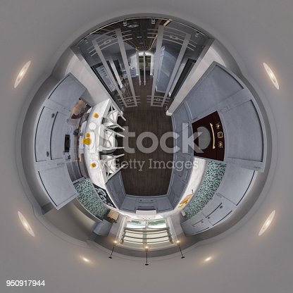 938518926istockphoto 3d illustration spherical 360 degrees, seamless panorama of kitchen interior design 950917944
