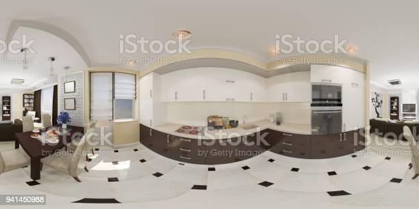 3d illustration spherical 360 seamless panorama of kitchen picture id941450988?b=1&k=6&m=941450988&s=612x612&h=x2rmc2mh1kyaob0gb5rpfp22bmz8abcgamzikkyjrms=