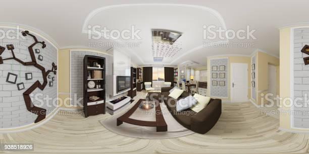 3d illustration spherical 360 seamless panorama of living room and picture id938518926?b=1&k=6&m=938518926&s=612x612&h=sptssqydhqb5xjlz crgo3iyjuvgnigicqolk 3dhvy=