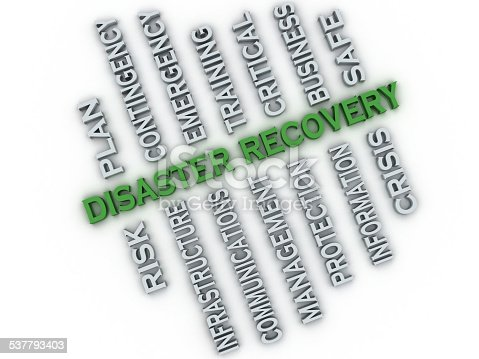 694587746 istock photo 3d image Disaster recovery  issues concept word cloud background 537793403