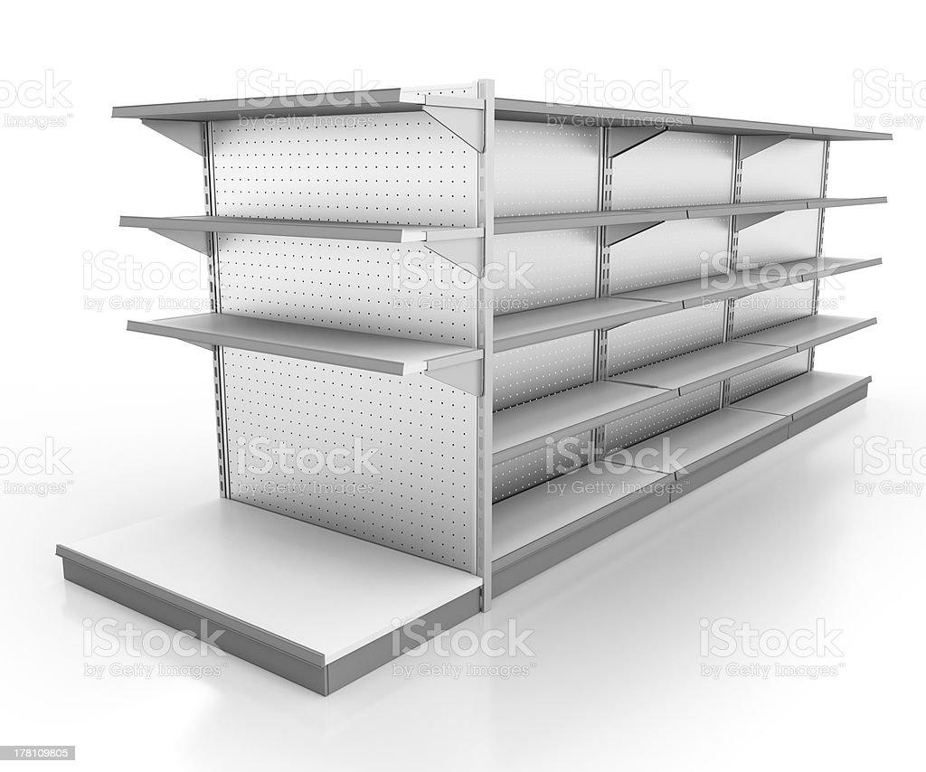 Vacío estantes. 3 d imagen - foto de stock