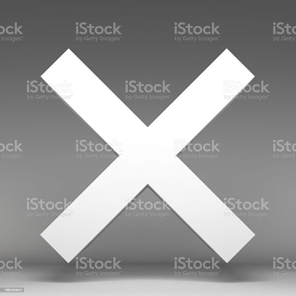3d incorrect icon royalty-free stock photo