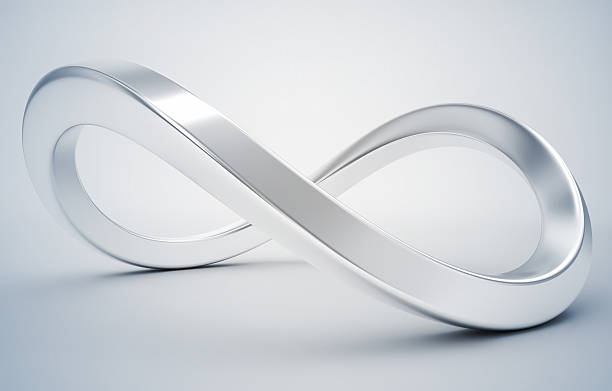 3d infinity symbol 3d infinity symbol eternity stock pictures, royalty-free photos & images