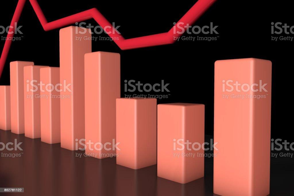 3d info-graphic bar stock photo