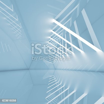623616378 istock photo 3d interior background with ceiling lights 623616058