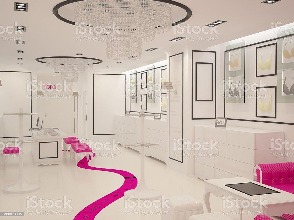 3d interior design shop - foto de acervo