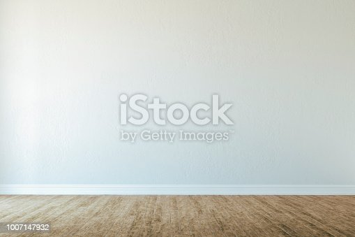 847138534 istock photo 3d interior with blank wall and wooden floor, render 1007147932