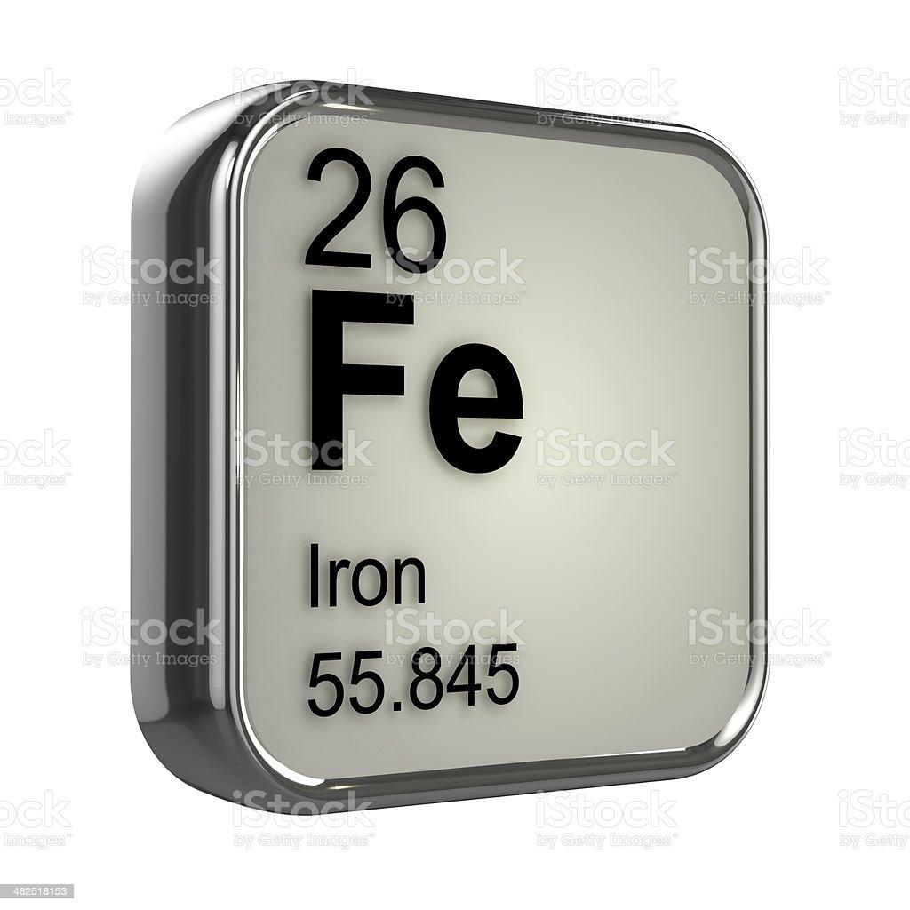 3d Iron element stock photo