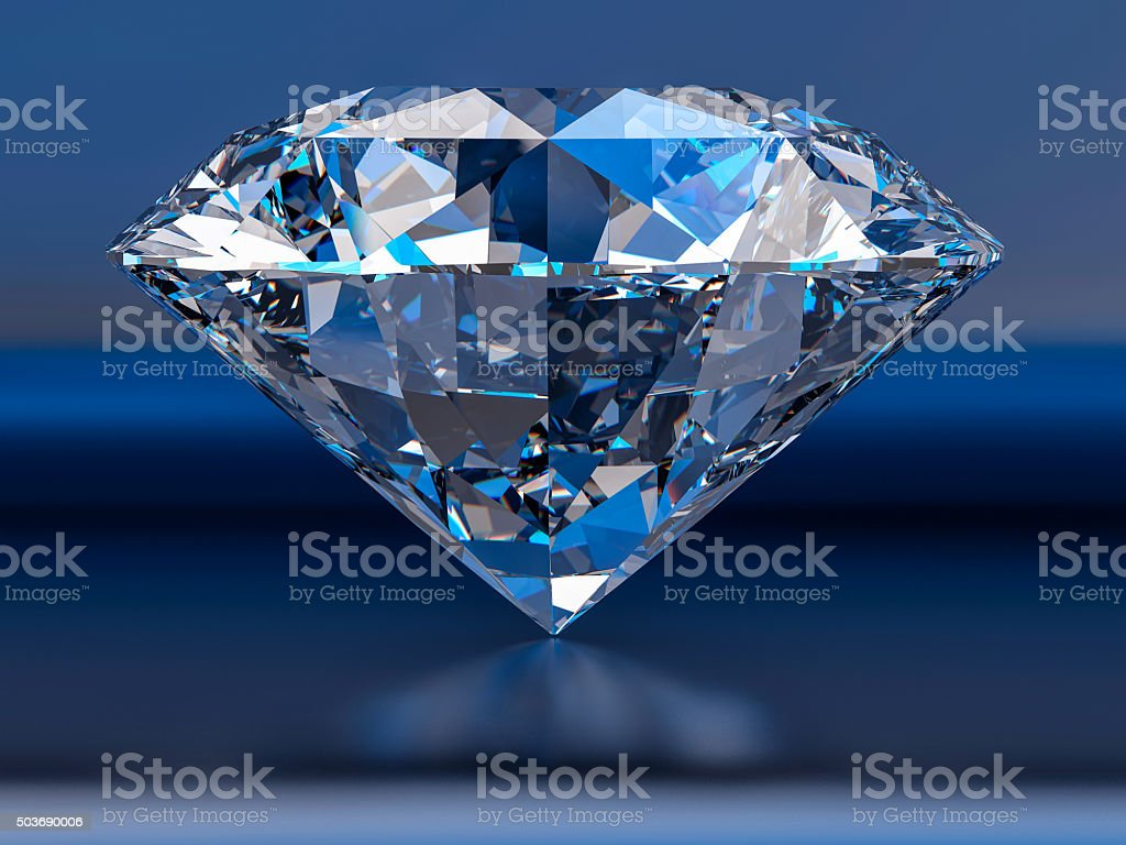 3d Isolated Diamond Background stock photo