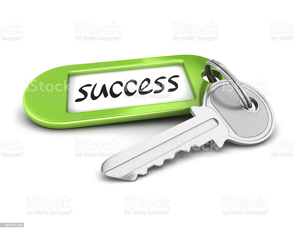 3d key to success royalty-free stock photo