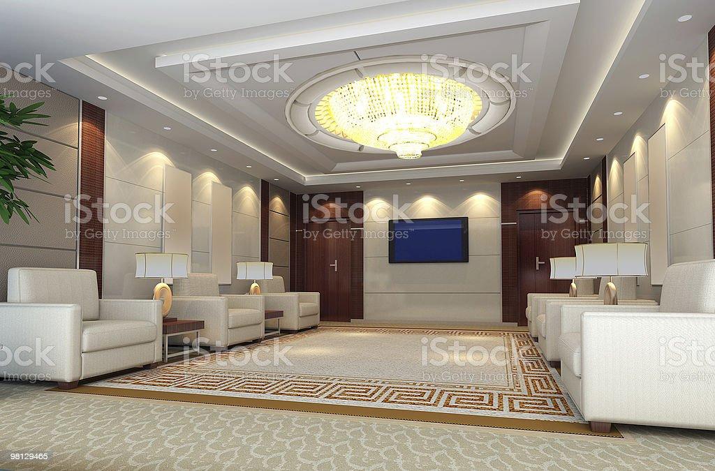 3 d rendering di grande salotto foto stock royalty-free