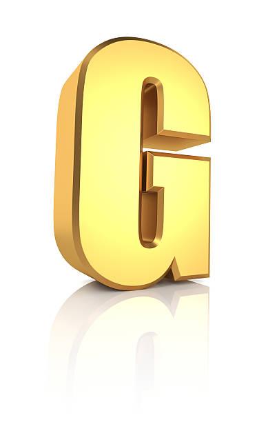 3d Letter G stock photo